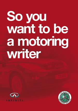 So You Want to be a Motoring Writer cover