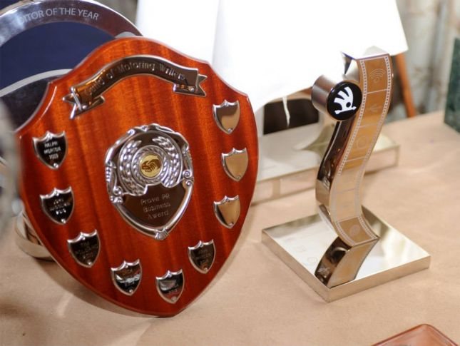 Guild of Motoring Writers awards trophies